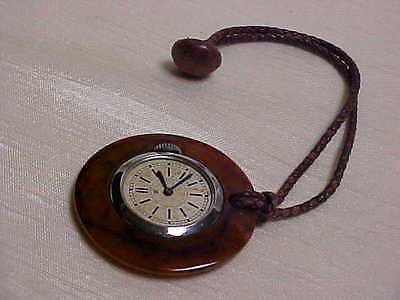 Vintage 1930's Bakelite Case Shirt Button Watch non Working Condition Evkob Co