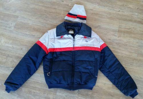 Roffe Ski Wear Bomber Jacket Snowboarding Puffer Coat Vintage 80's Men's Large L