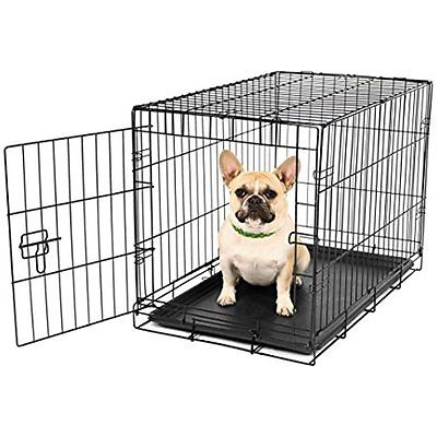 Carlson Secure Crates Kennels and Compact Single Door Metal Dog Crate, Small