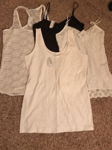 NWT Lot Of (4) Tank/Spaghetti Strap Women's Tops Size M/L Maurice's Retail $75