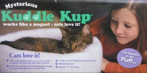 Mysterious Kuddle Kup Cat Bed, Charcoal ,