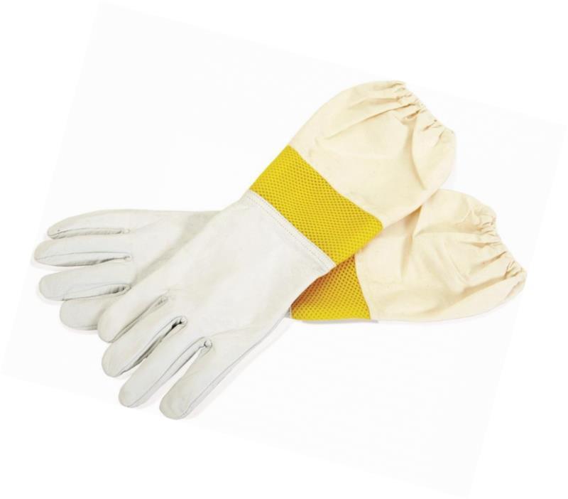 Little Giant Farm & Ag GLVMD Goatskin Gloves with Vented Sleeves, Medium