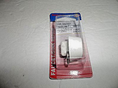 Sink Drain Plug Stopper Rubber White 1-1/8