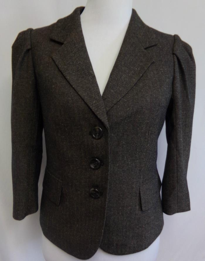 Women's The Limited Jacket Blazer Brown Office Career Professional Lined NICE S