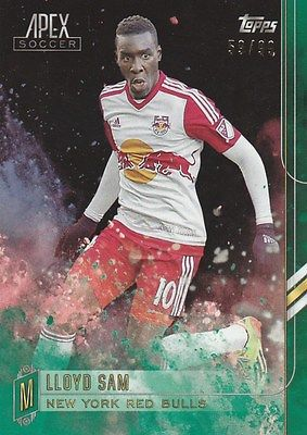 2015 TOPPS APEX SOCCER LLOYD SAM NEW YORK RED BULLS M #6 GREEN /99