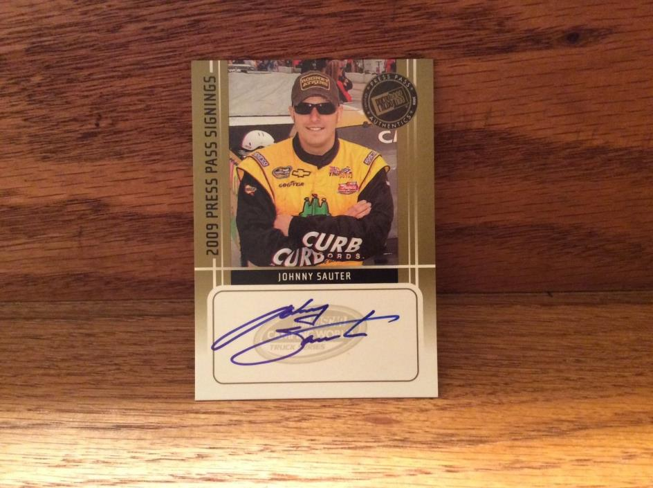 2009 Press Pass Signings of Johnny Sauter.
