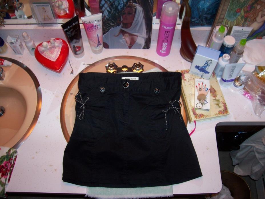 women's sz 2 fabulous White House Black Market pretty black skirt 2% spandex