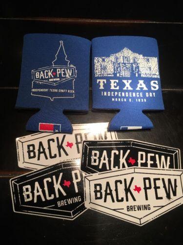 Back Pew Brewing Foam Koozie Insulator Huggie Stickers