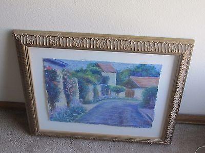 Pastel landscape drawings