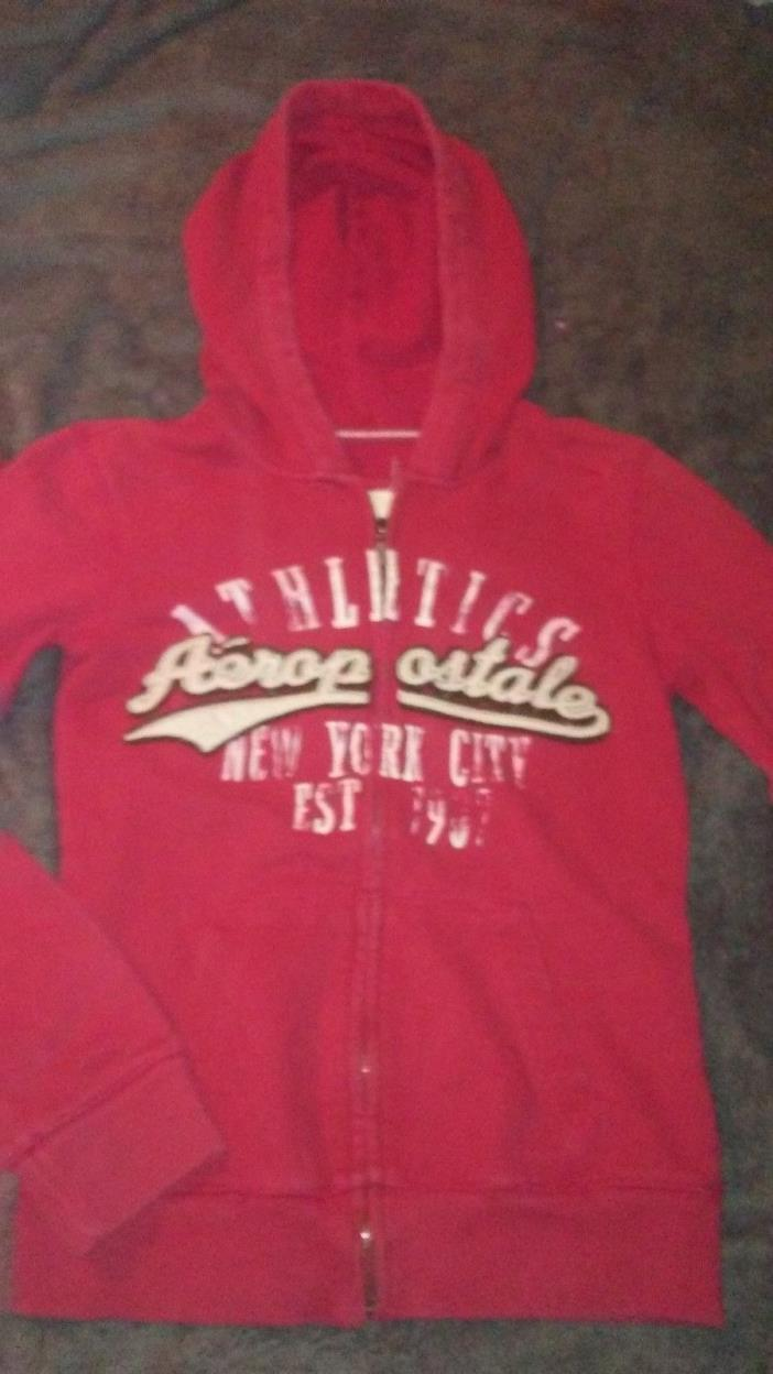 Aeropostale Juniors S/P Full Zip Hoodie Red Color 80 % Cotton Blend