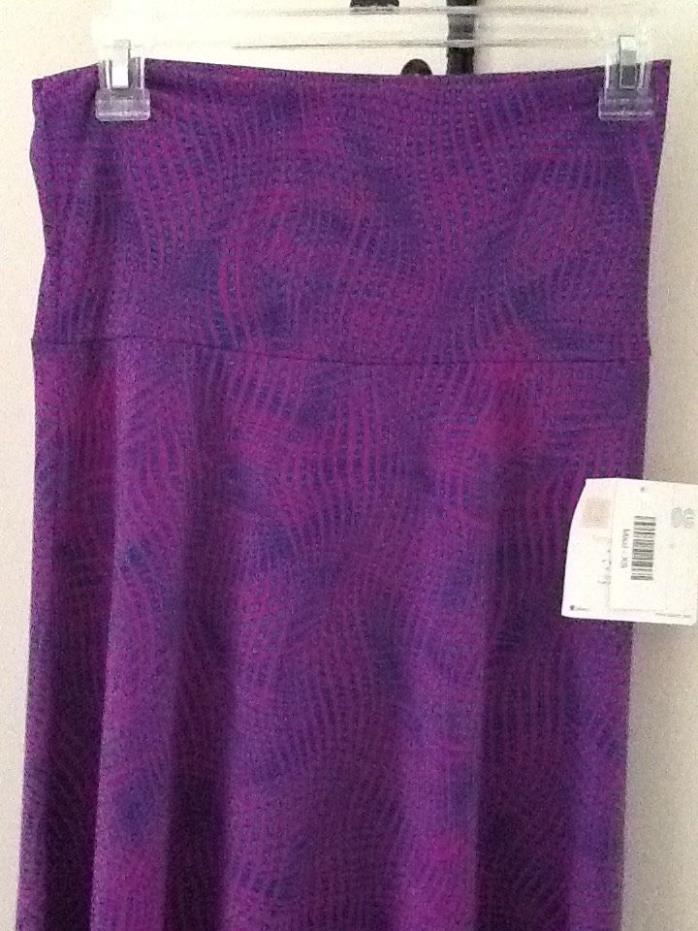 LULAROE MAXI SKIRT XS in Purple and teal NEW  With tags NWT