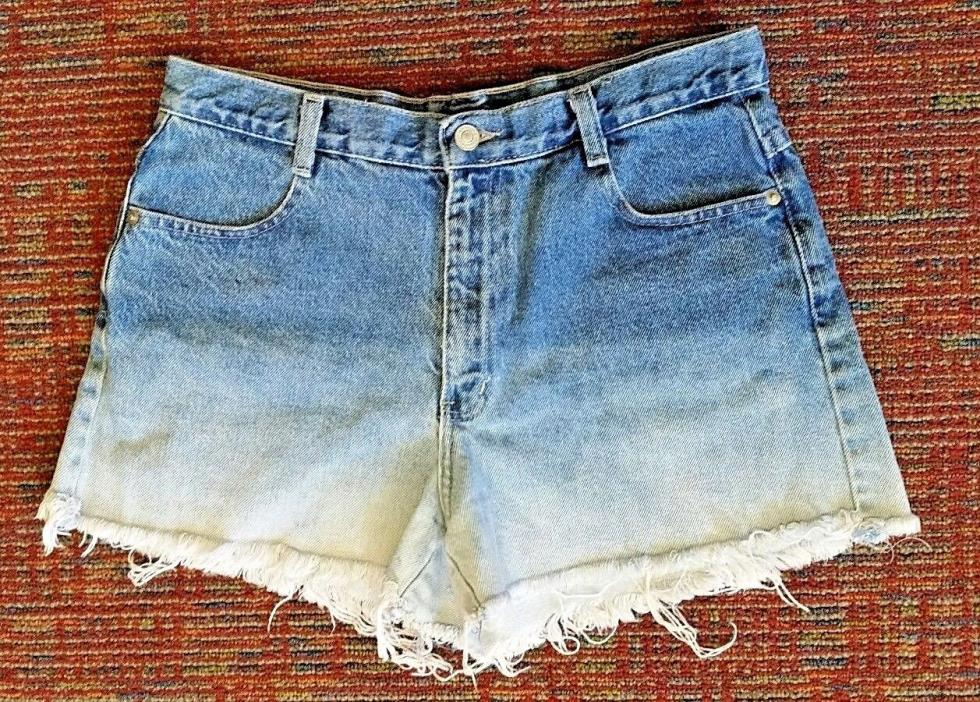 Womens~No Boundaries~ Vintage Natural Waist Ombre Bleached Cut Off Shorts Sz 11