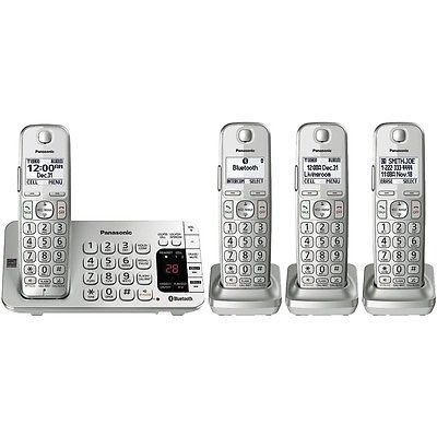 PANASONIC KX-TGE474S Link2Cell(R) Bluetooth(R) Cordless Phone System (4-handset