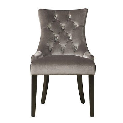 Right2Home DS-2514-900-204 Dining Chair Chrome Velvet - Silver NEW