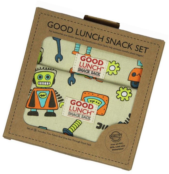 Sugarbooger Good Lunch Snack Set, Retro Robot