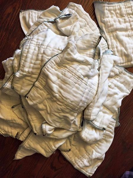 Imagine Bamboo/Organic Cotton Prefolds Pre-Folds 36 Pre Folds Inserts Size Small