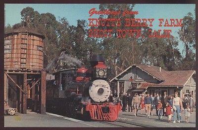 Greeting Train Old 41 Knott's Berry Farm Buena Park Narrow Railroad Postcard