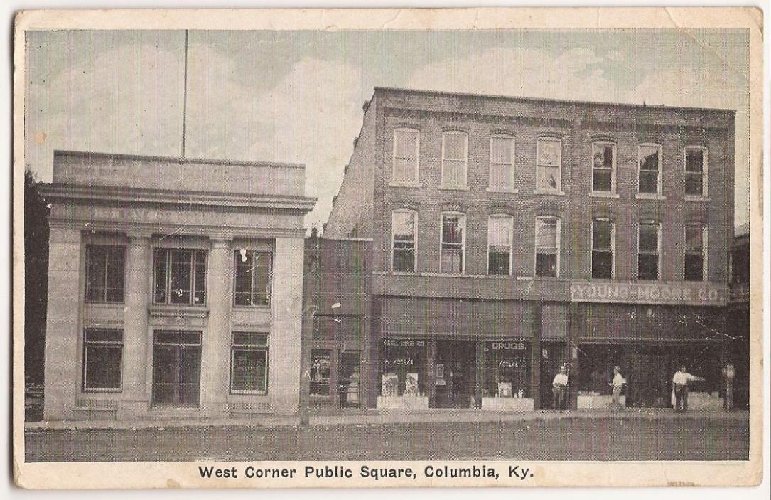 Columbia, Kentucky West Corner Public Square Post Card