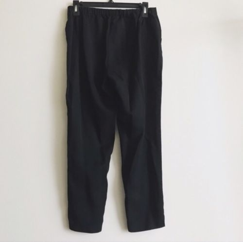 EILEEN FISHER SIZE S Small Black SLOUCHY CROPPED PANTS, WASHABLE!