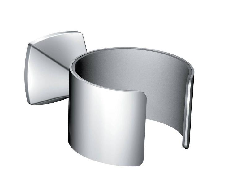 MOEN Voss Wall Mounted Hair Dryer Holder Chrome Steel Tool Organizer Bathroom