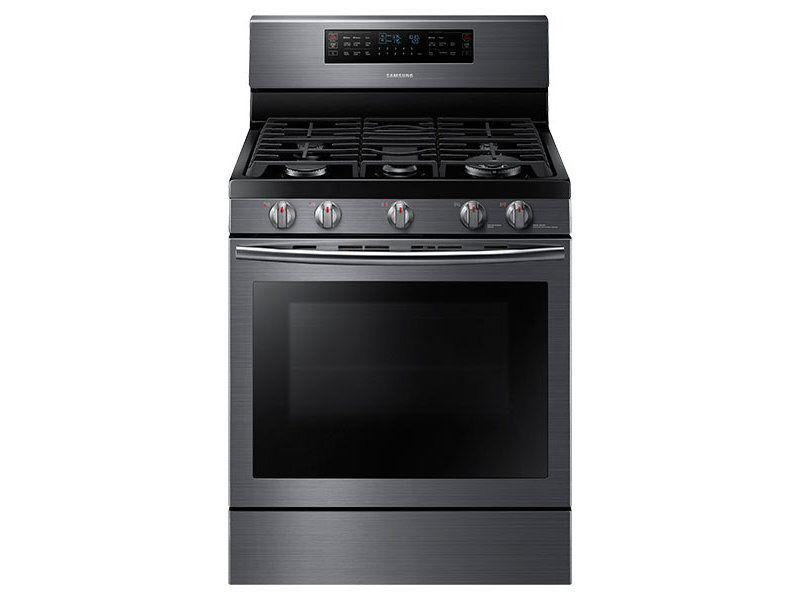 Samsung Flex Duo 30 Inch Gas Range - NX58J7750SG Black Stainless Steel