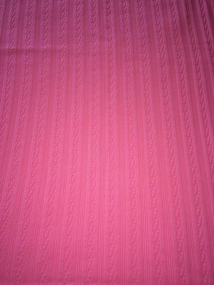 Vintage 1970s Double Knit Fabric 1 1/2 Yds x 56
