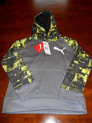 Boy's PUMA Hoodie Size 6 NWT $42.00 Grey Sweatshirt