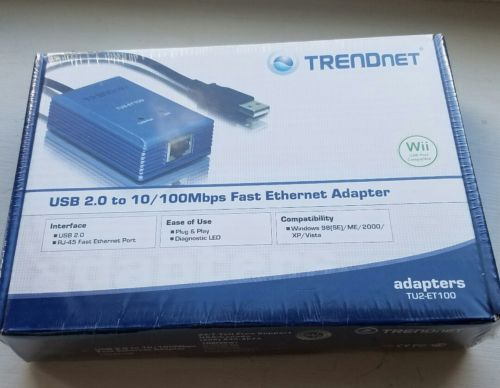 TrendNet USB 2.0 to Ethernet (RJ-45 10/100) Adapter BRAND NEW