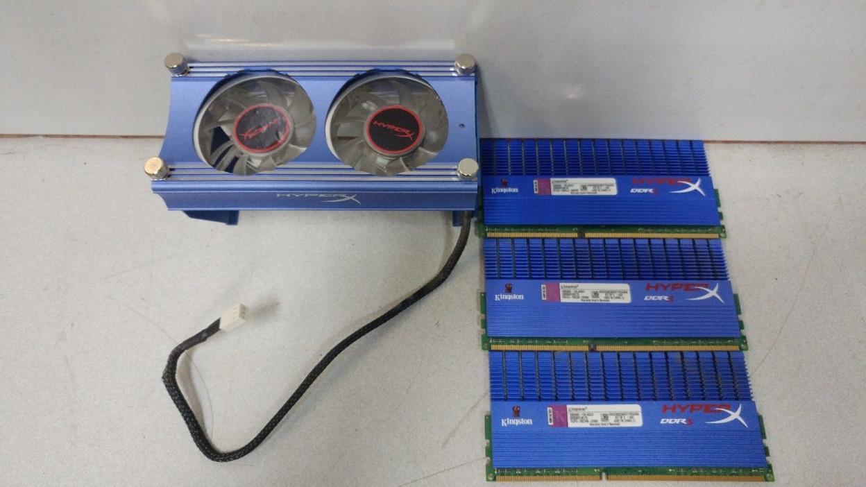 Kingston Hyper Kit of 3 KHX2000C9AD3T1FK3/6GX DDR3 Desktop RAM W/ Fan Kit