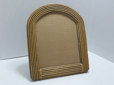 Rare Vintage Bamboo Wood Picture Frame_Lucid Lines Circa 1976 California