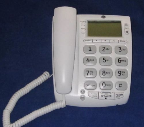 GE Thomson 29569GE1-A 29569GE1 Corded Big Button Desktop Speakerphone White