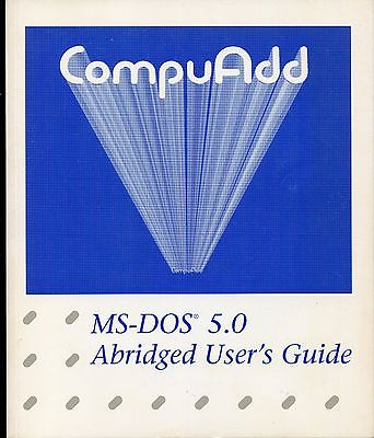1993 Computer Guide Book, MS-Dos 5.0, CompuAdd, Abridged
