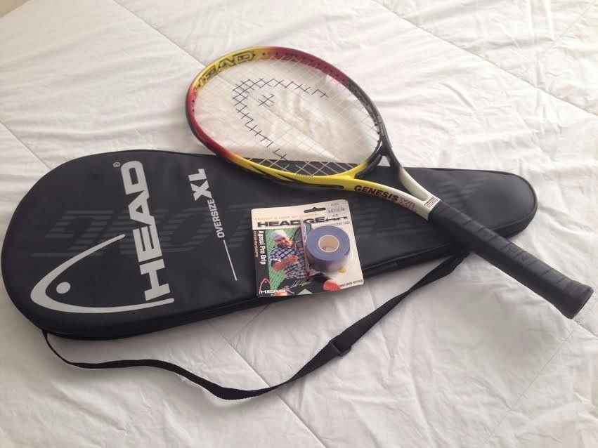 Head Tennis Racquet Genesis Pyramid V Oversize XL (New) & Agassi Pro Grip Wrap