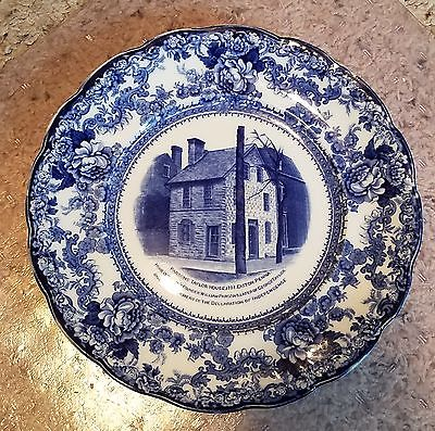 Colonial Pottery Stoke England TOGO Blue 8 5/8