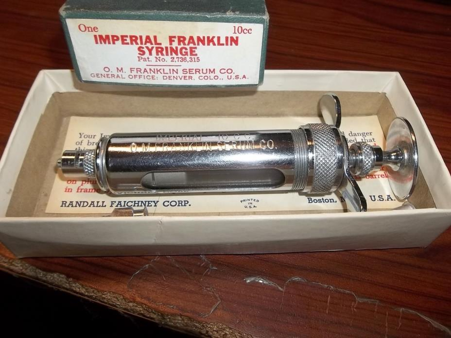 Imperial Franklin Syrings 10CC with Box