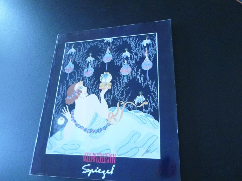 SPIEGEL 1988 HOLIDAY CATALOG  ERTE' COVER & 2 INSIDE PAGES OF  ERTE' PICTURES