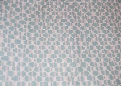 Brunschwig & Fils Cotton Chintz Fabric Aqua, White, Pale Taupe  38 x 54 (BF#631)