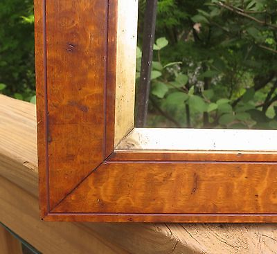 c1850 Outstanding VICTORIAN TIGER MAPLE BURL Veneer Folk Primitive Sampler Frame