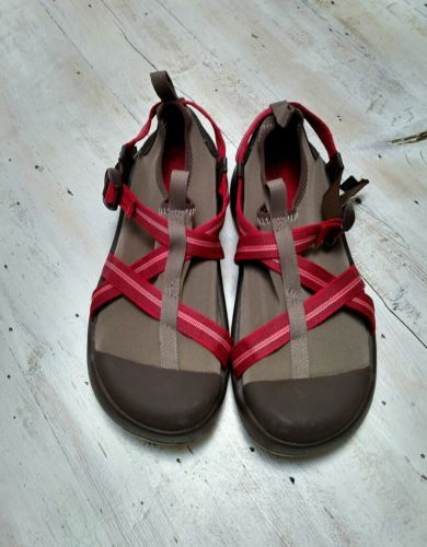 Chaco Ponsul Bulloo Water Shoes Salmon Run Women Size 12 Brown Sport Active Tan