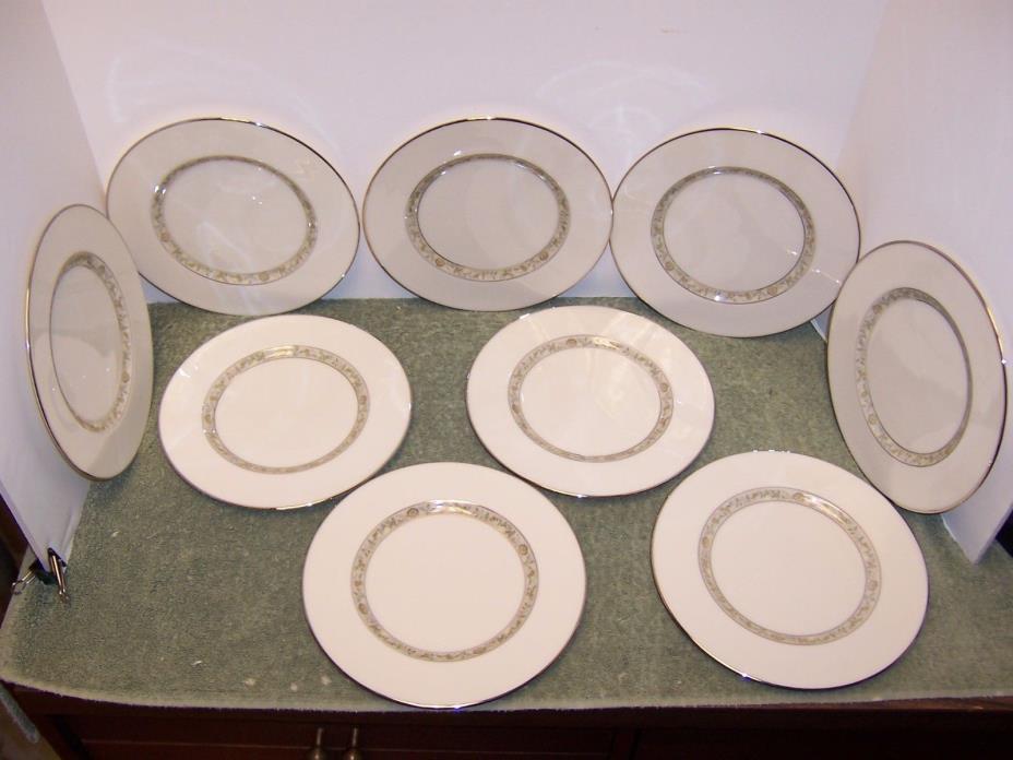 9 Lenox SPRINGDALE Platinum Trim Salad/Dessert Plates