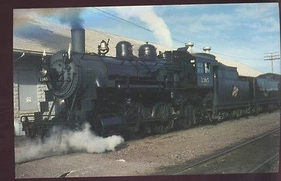 1385 Ten Wheeler 4-6-0 Locomotive Altoona Chicago Northwestern Railroad Postcard