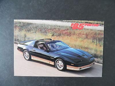 1985 Pontiac Trans Am Car Advertising Postcard
