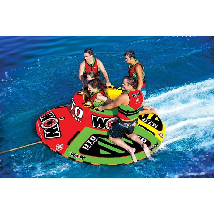 5 Person Ski Tube Center Cockpit Riders Water Sports Extreme Round Floating Boat