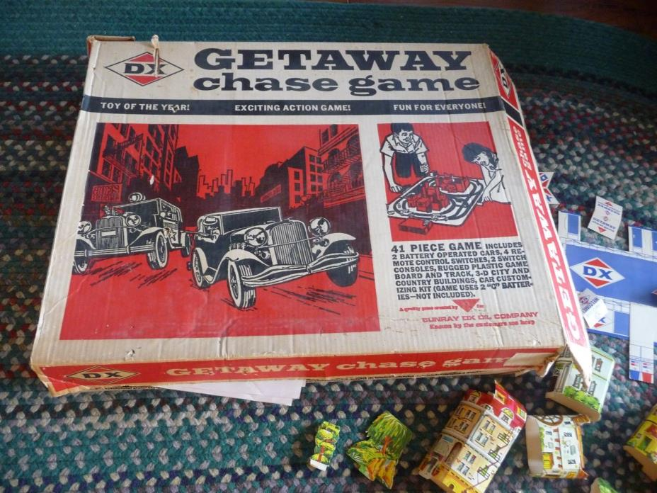 1960's Getaway Chase Game By AMF For DX Sunray Oil Company.
