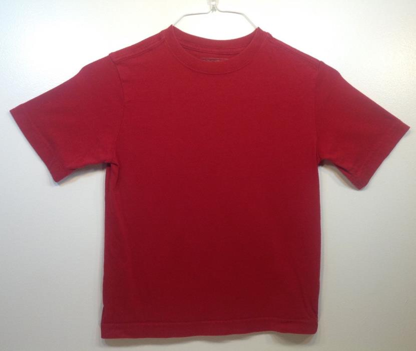 Boys Cherokee Brand Red Short Sleeve T-Shirt Sz S EUC FREE SHIPPING 100% Cotton