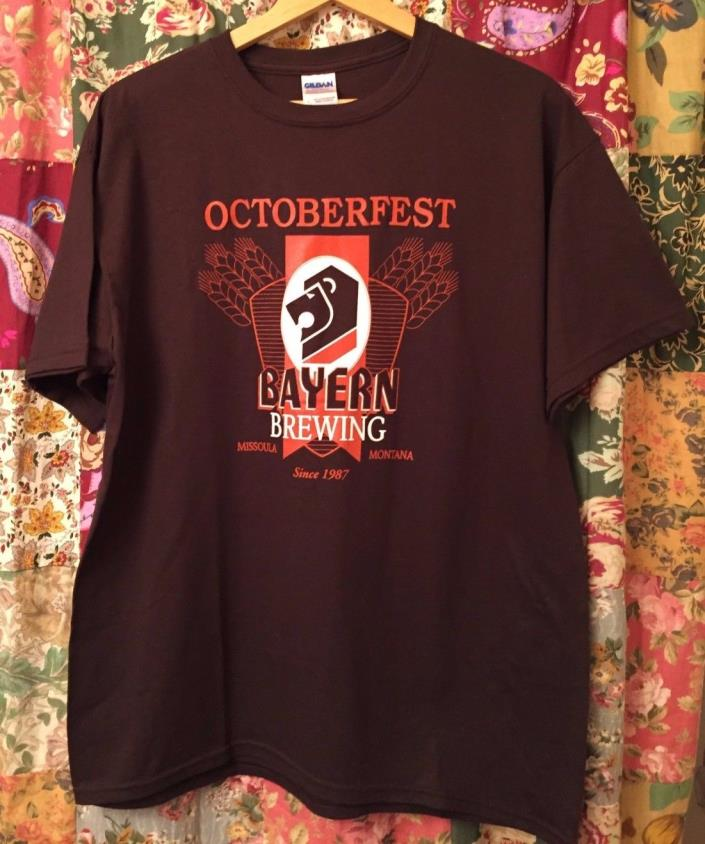 Octoberfest Bayern Brewing Missoula Montana Men's T-Shirt Large NWOT
