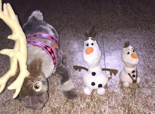 Disney Frozen Exclusive 16 Inch Plush Figure Sven & 2 Olaf's