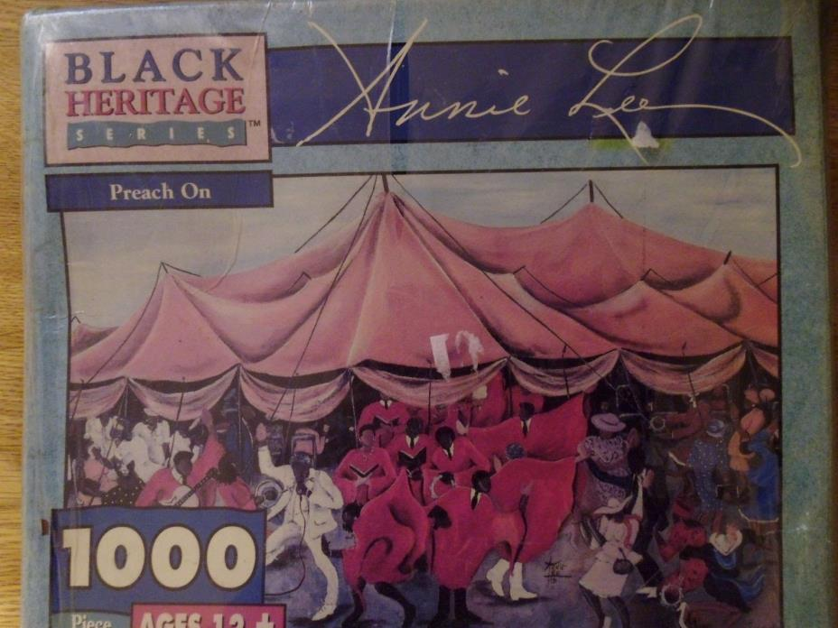 Black Heritage African American Annie Lee Jigsaw Puzzle Preach On 1000 New