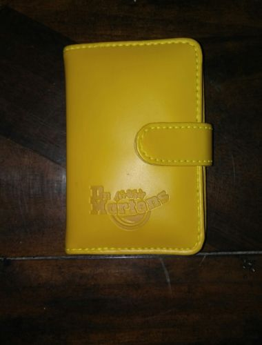 DR. MARTENS LEATHER ADDRESS BOOK-Mustard Yellow