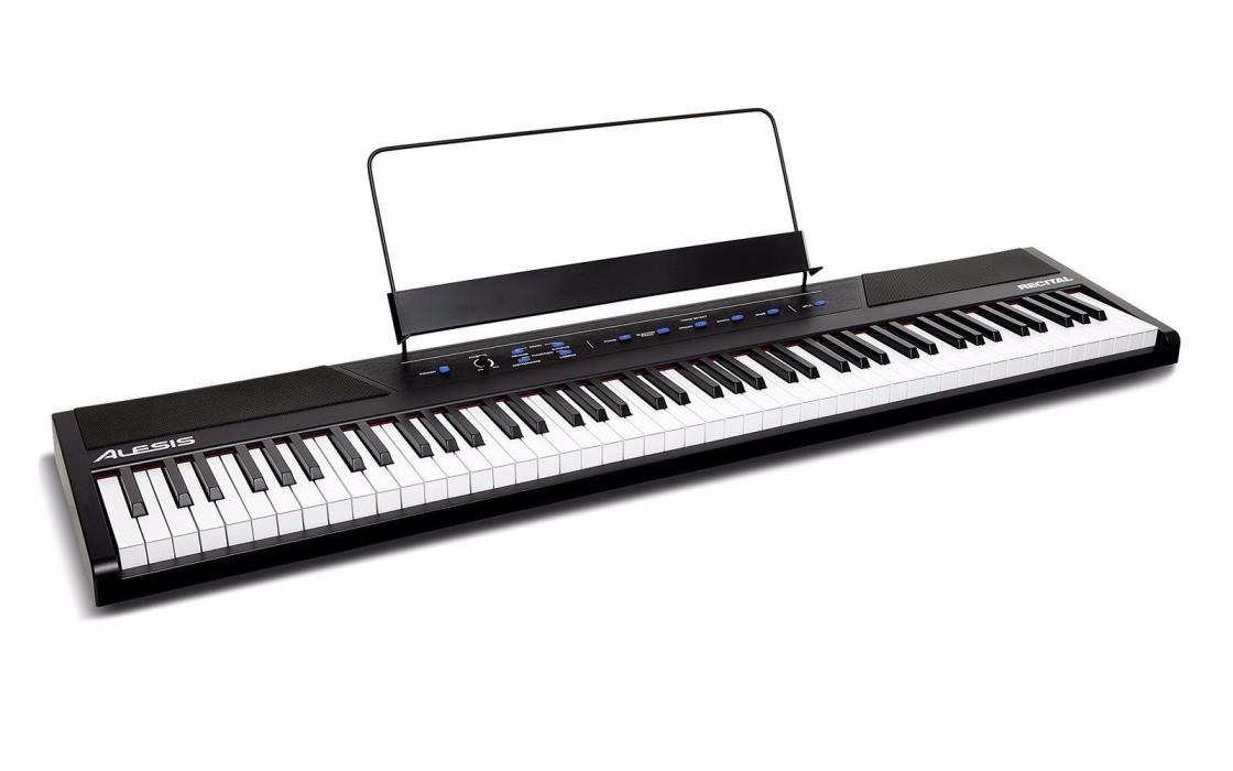 Alesis Portable Keyboards Recital 88-Key Beginner Digital Piano with Full-Size